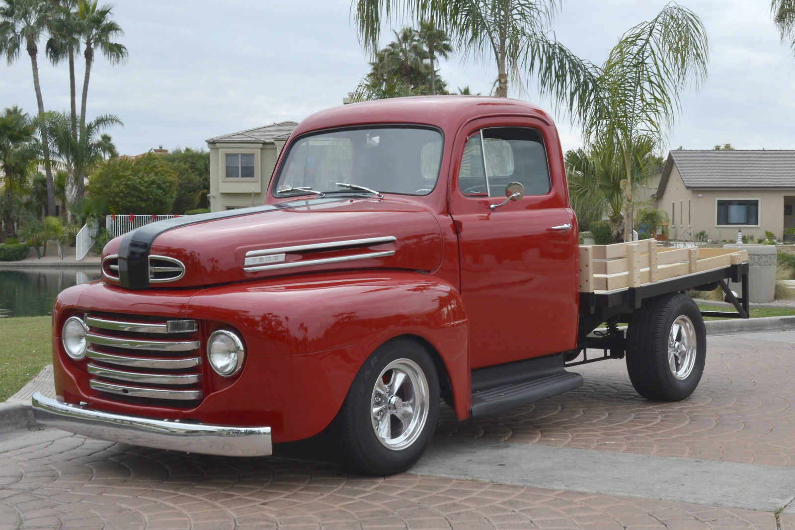 1948 ford f1 stake bed pickup truck custom street hot rod