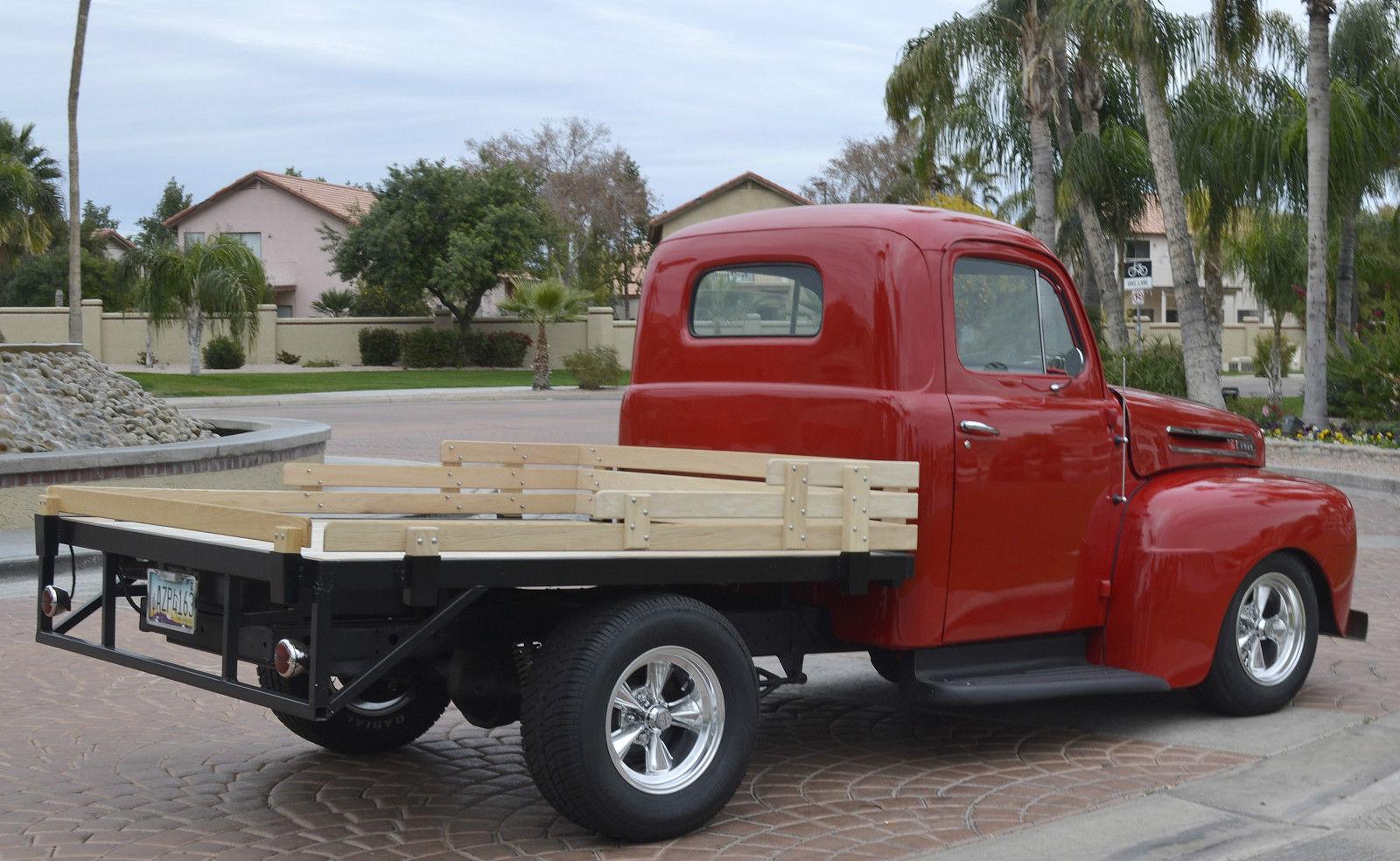 1948 ford f1 stake bed pickup truck custom street hot rod