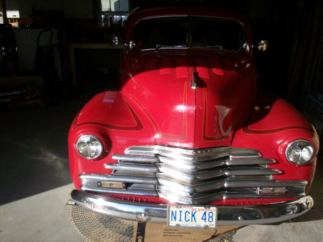 1948 Red Chevy 2 Door Coupe Fleet Master