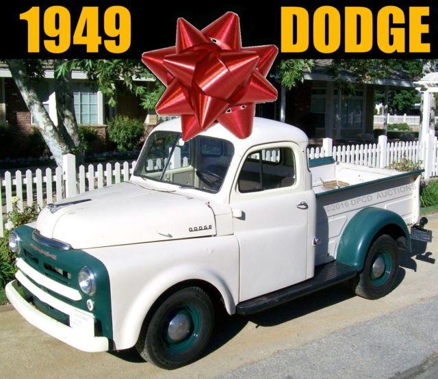 1949 california vin b series 1 2 half ton shop truck for 1949 dodge 5 window pickup truck
