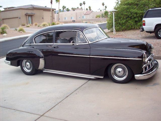 1949 chevy chevrolet fleetline deluxe 2 door sedan custom