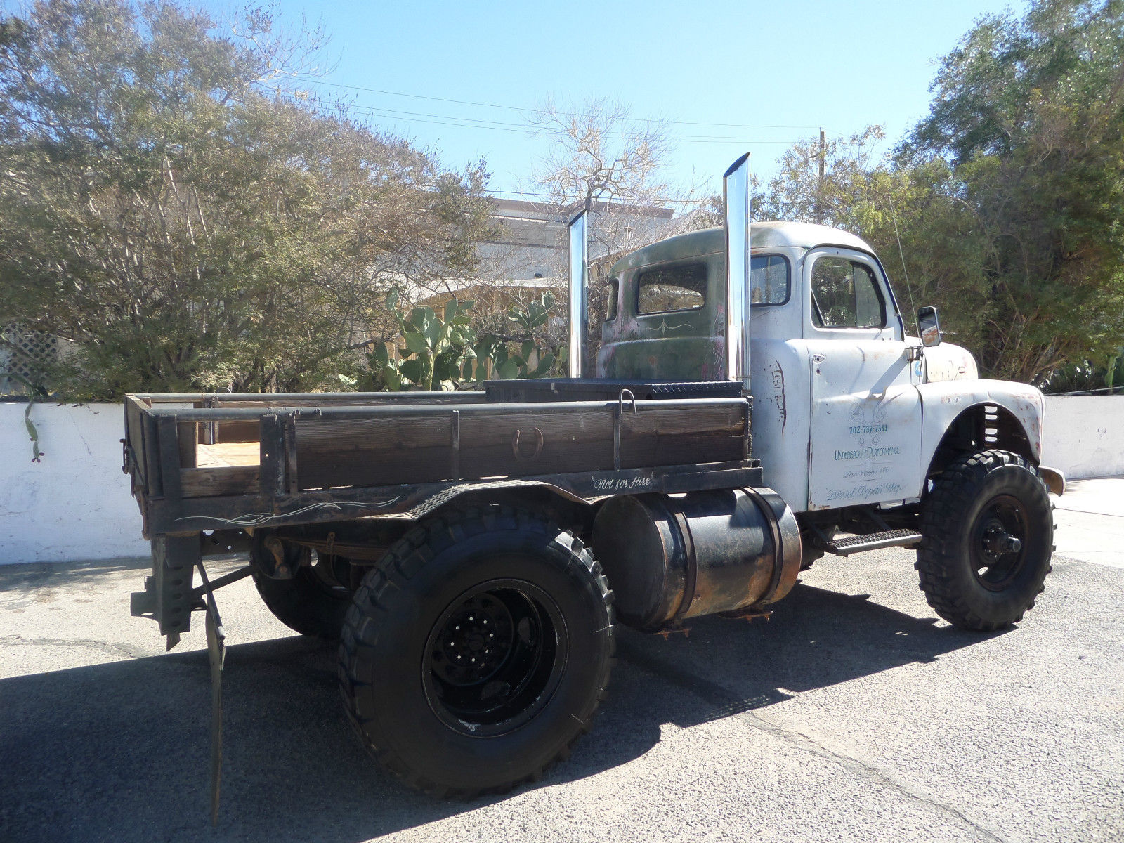 1949 Dodge Truck Cummins Diesel Power 4x4 Rat Rod Tow No Reserve Pickup