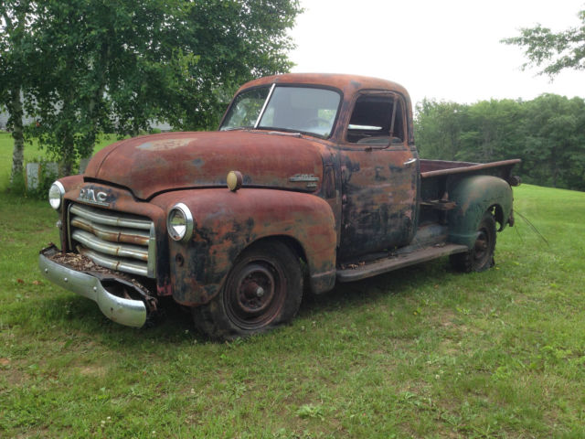 1949 gmc 3 4 ton pickup truck barn find patina ratrod. Black Bedroom Furniture Sets. Home Design Ideas