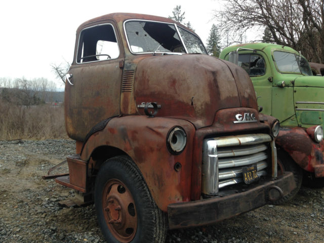 1949 Gmc 5 Window Deluxe Coe Cabover Truck Cab Complete