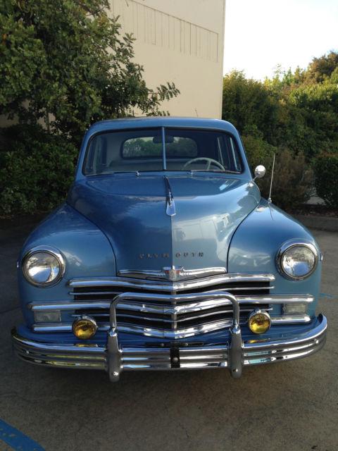 1949 Plymouth Blue Special Deluxe 4 Door Sedan