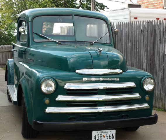 "1950 Dodge B2B 5 Window Pickup ""pilot House"" Rare And SOLID"