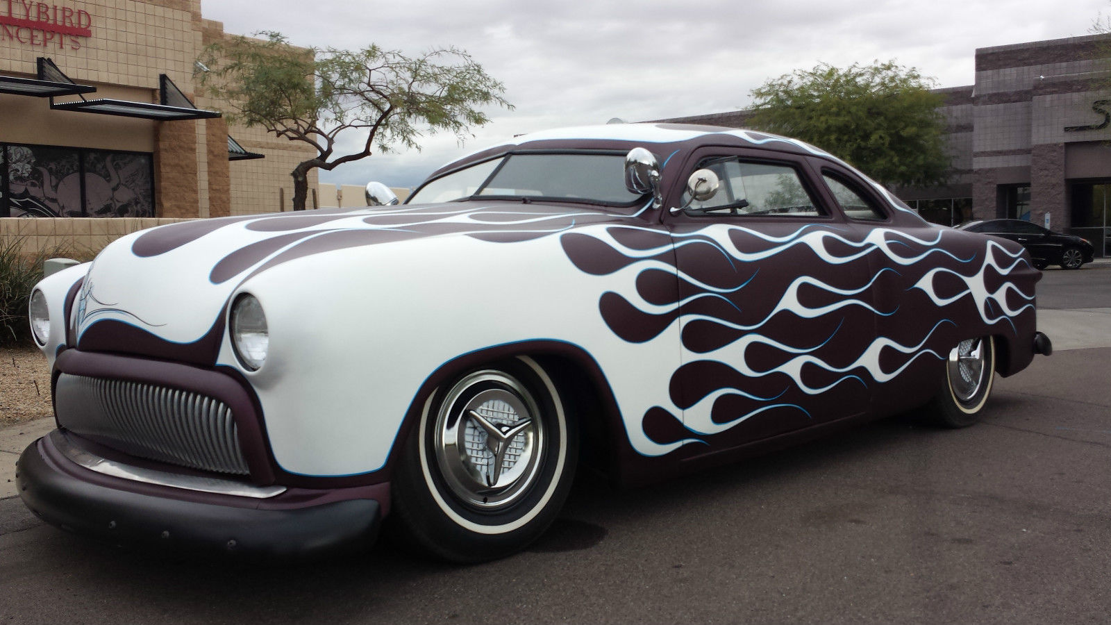 1950 ford 2 door chopped frenched flamed hot rod shoe box for 1950 ford 2 door sedan for sale