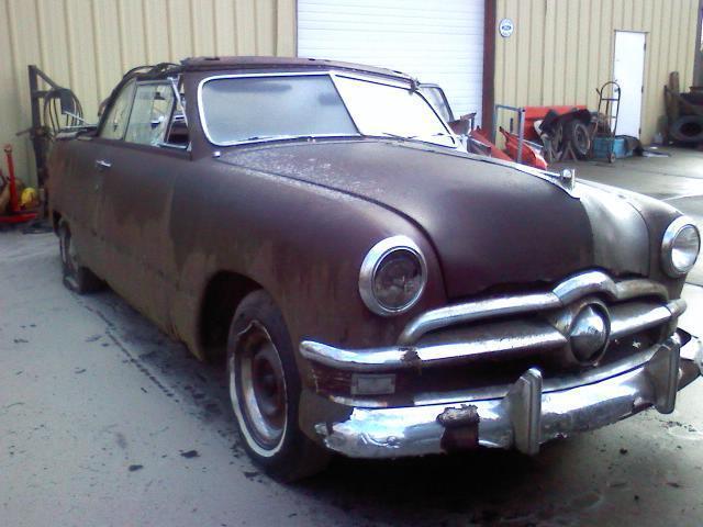 1950 Ford Convertible Rat Rod Custom Hotrod Project Barnfind