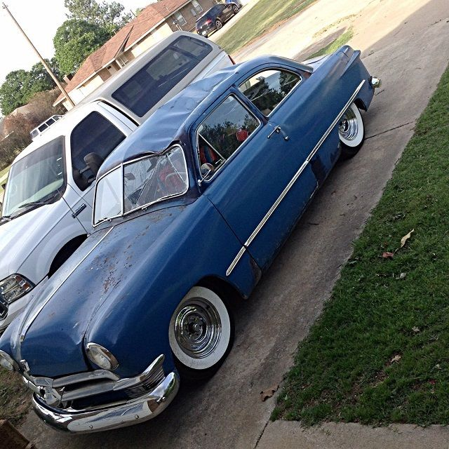 1950 Ford Tudor Sedan Shoebox Damaged Fresh Build Flathead