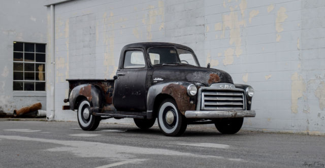 1950 gmc 100 3100 chevrolet chevy ad patina shop truck rat rod ls hot shortbed. Black Bedroom Furniture Sets. Home Design Ideas