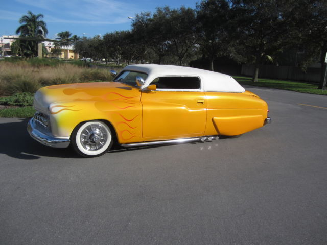 1950 Mercury Lead Sled Chopped With Air Ride Old School Hot Rod Low Reserve