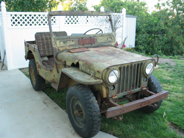 Willys Jeep M Military Korean War Army Jeep on 1951 Willys Jeep M38