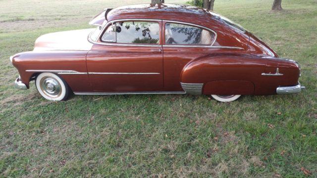 1951 chevrolet chevy fleetline 2 two door coupe fastback for 1951 chevy 2 door coupe