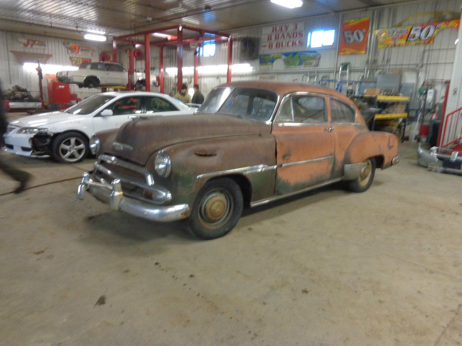 1951 Chevrolet Fleetline Deluxe 2 Door Fastback Barn Find 35l Chevy Sedan
