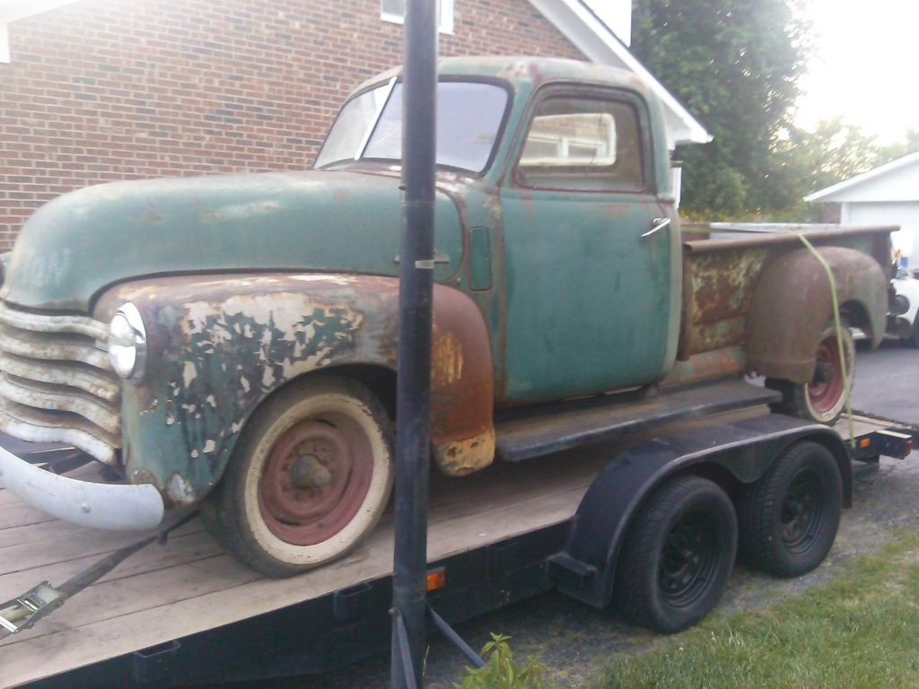 1951 Chevy Pickup 4 Speed Long Bed Rat Shop Truck Street