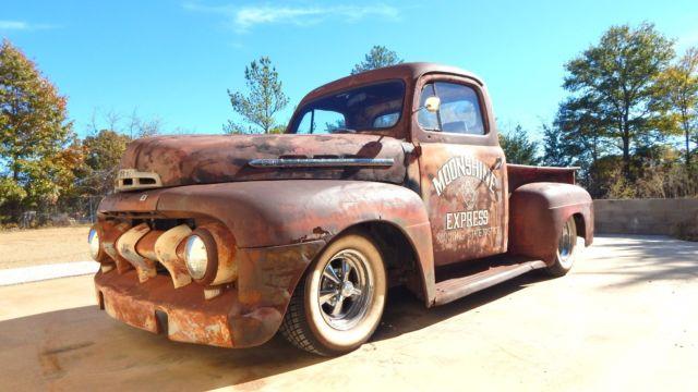 1951 ford f3 pickup shop truck hot rat street rod patina classic 2dr cab. Black Bedroom Furniture Sets. Home Design Ideas