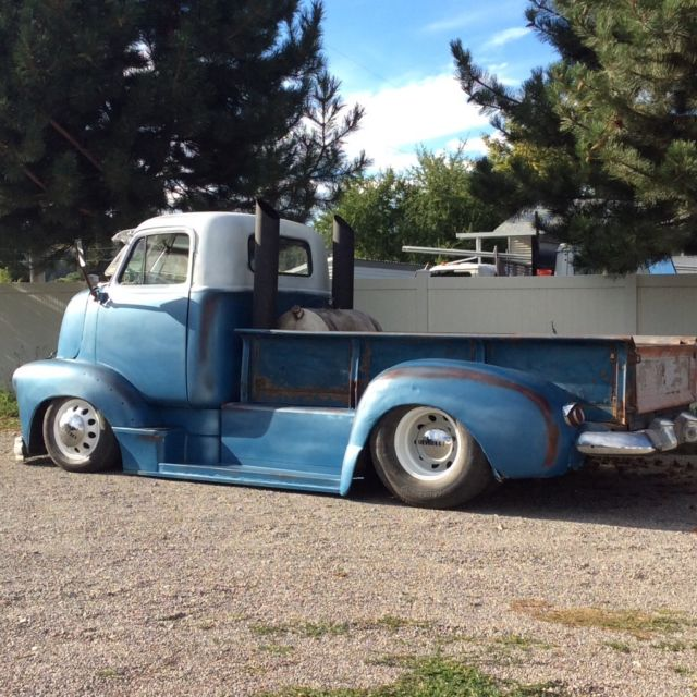 1952 chevy coe cab over 12v cummins 5 speed dually patina. Black Bedroom Furniture Sets. Home Design Ideas