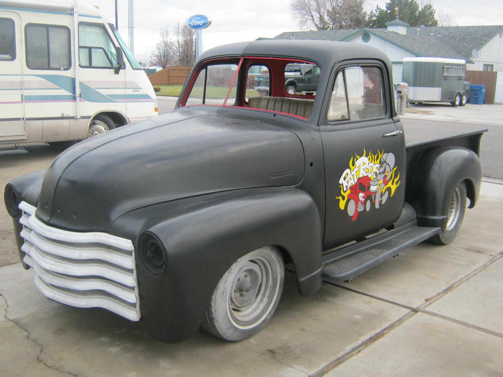 1952 Chevy Short Bed Pick Up Truck Custom Build Rat Rod Hot 1951 Chevrolet