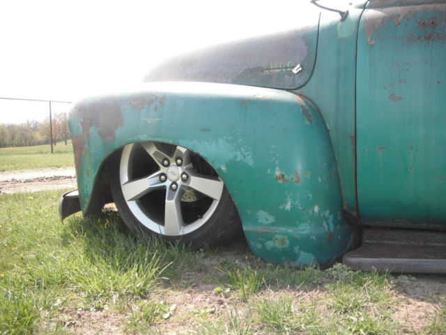 1953 chevrolet 3100 bagged LT1 motor patina truck rat hot rod c-10 5 ...