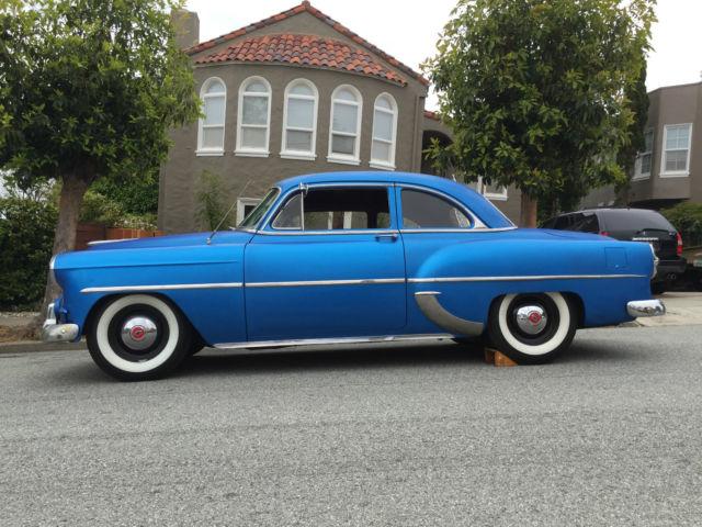 1953 Chevy 2 Door Club Coupe Hotrod Ratrod White Walls V8 Custom