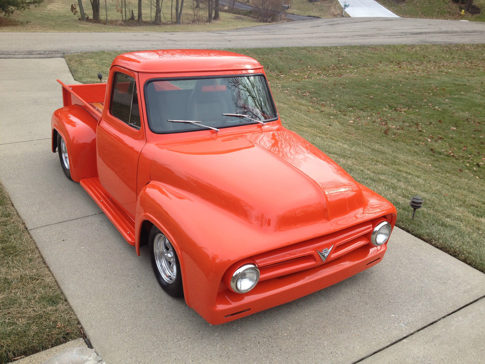 1953 ford f 100 pickup truck street rod turn key 400 small block ac heat. Black Bedroom Furniture Sets. Home Design Ideas