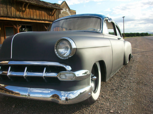 1954 chevrolet 2 door sedan air bagged mild custom chevy for 1952 chevy 2 door sedan