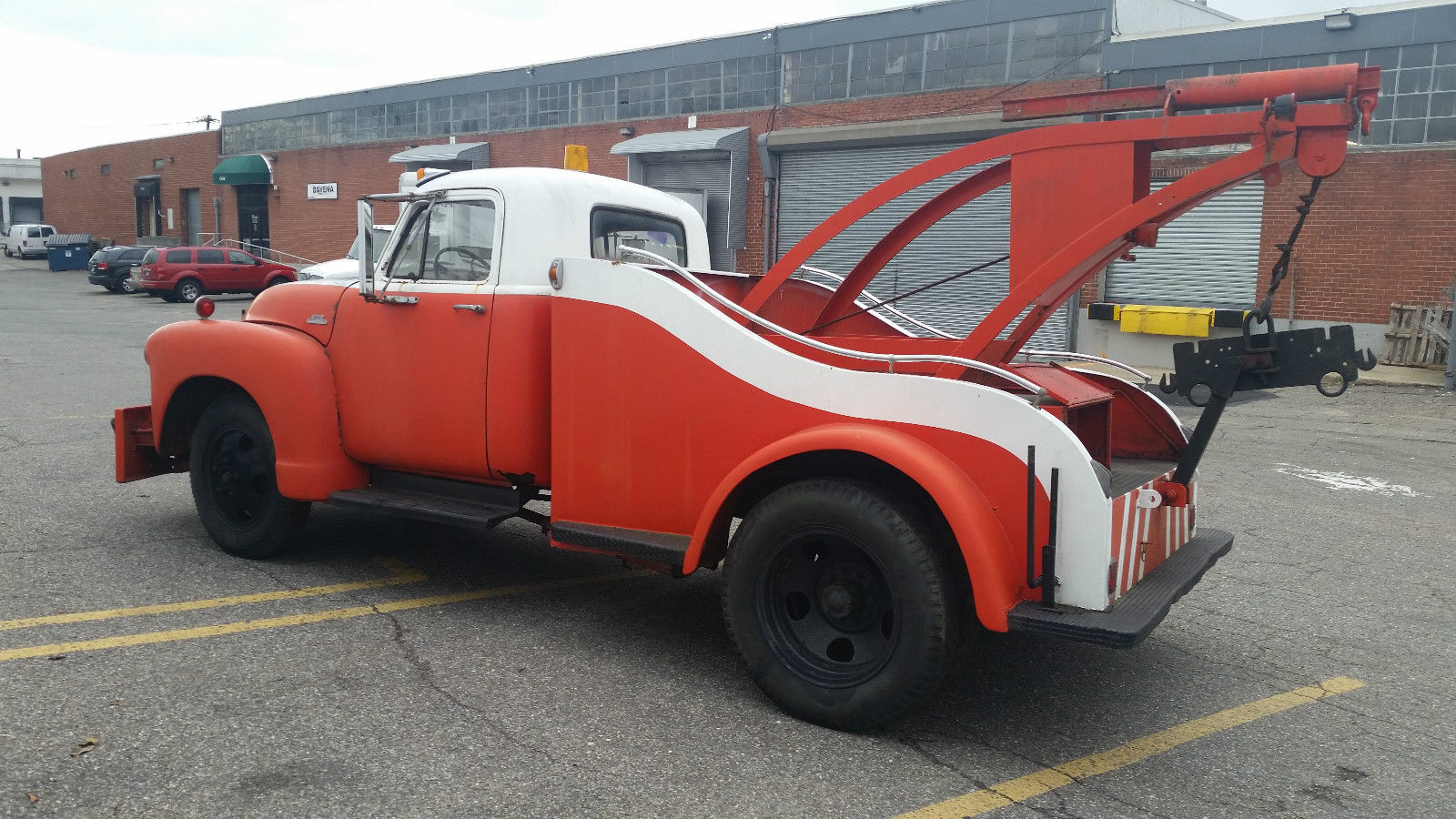 1954 Chevrolet Tow Truck Chariot Back Runs And Drives 4100 Manley Ford Crane Art Deco