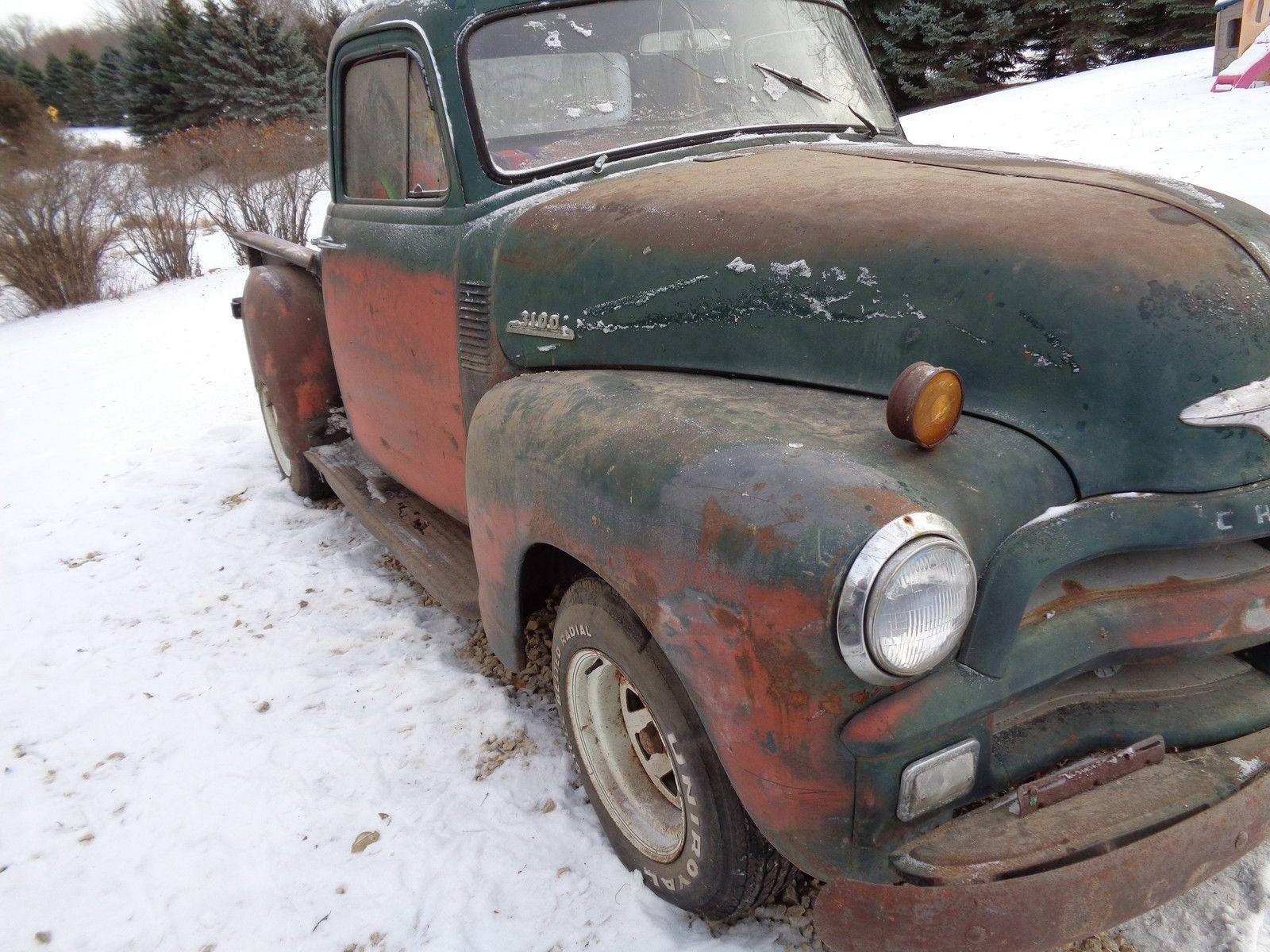 1954 Chevy 3 Window Deluxe Pickup Short Box Rat Rod Shop Truck Street Hotrod