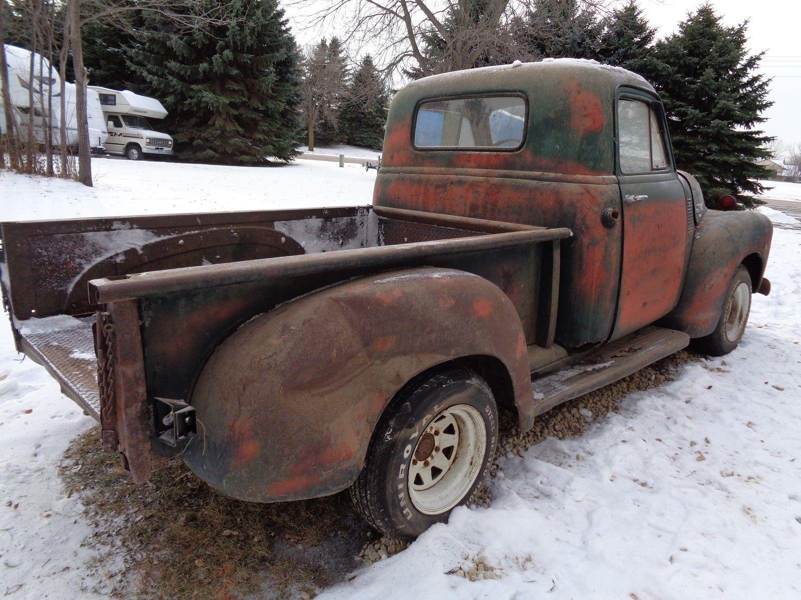 1954 Chevy 3 Window Deluxe Pickup Short Box Rat Rod Shop Truck Bed Street Hotrod