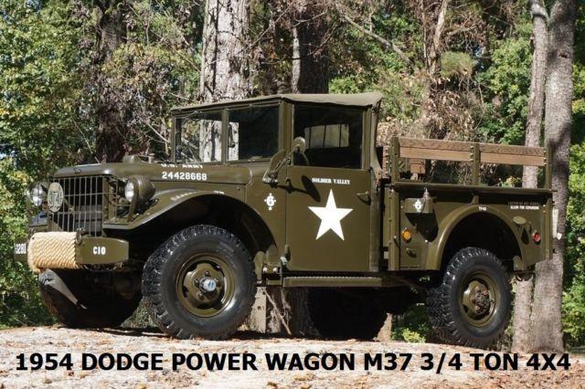 1954 dodge power wagon 3 4 ton 4x4 m37 military transmitter radio n reciever. Black Bedroom Furniture Sets. Home Design Ideas