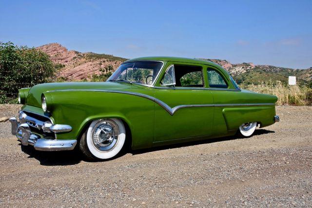 1954 ford customline shoebox kustom bagged 1950 Ford Club Coupe