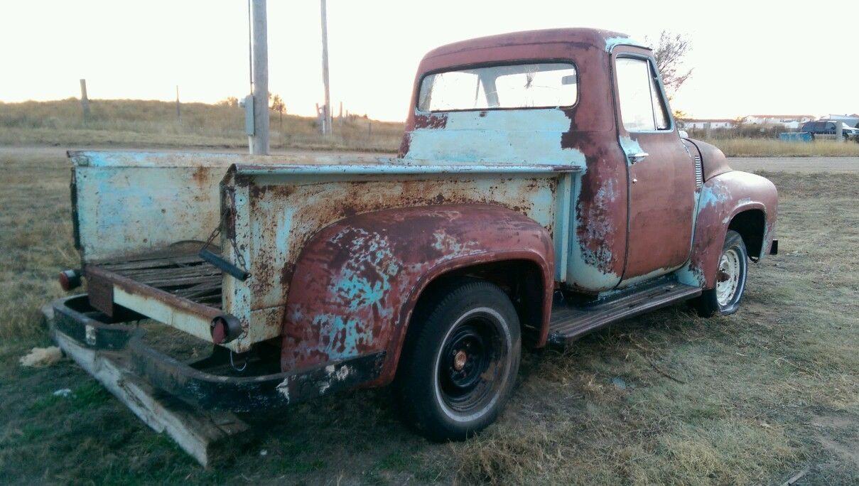 1954 Ford F100 1 2 Half Ton Pickup Shop Truck Hot Rat Rod Project Runs Patina