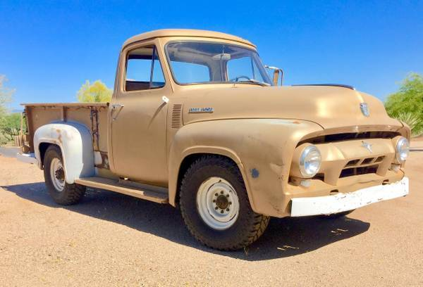 Used Chevy Volt For Sale >> 1954 Ford F250 Classic Pick Up Truck Rat Rod Restore Patina Muscle 3/4 ton chevy