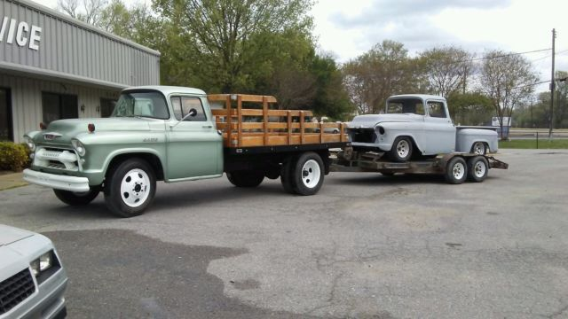Chevy 3500 Dually For Sale >> 1955 1½ Flatbed Truck