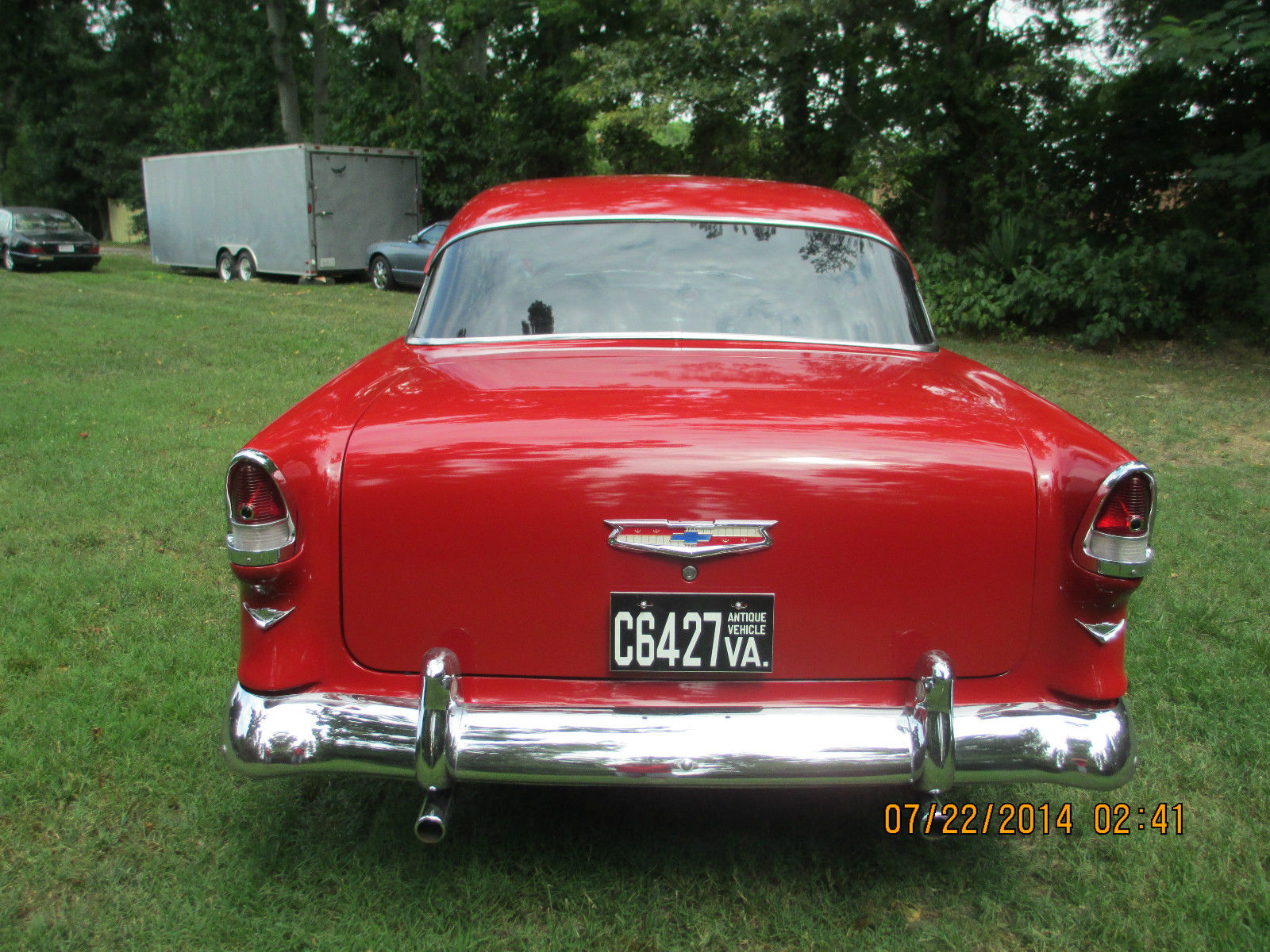1955 Chevrolet Bel Air No Post Hard Top Coupe Beautiful Car 7 Chevy Day Auction