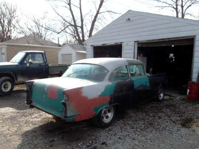 1955 chevy 2 door post