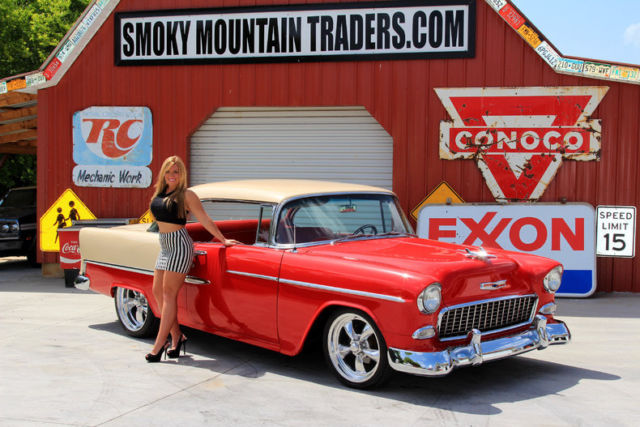 1955 Chevy Bel Air Hardtop AC PS 4WPDB 350 Crate Auto ...