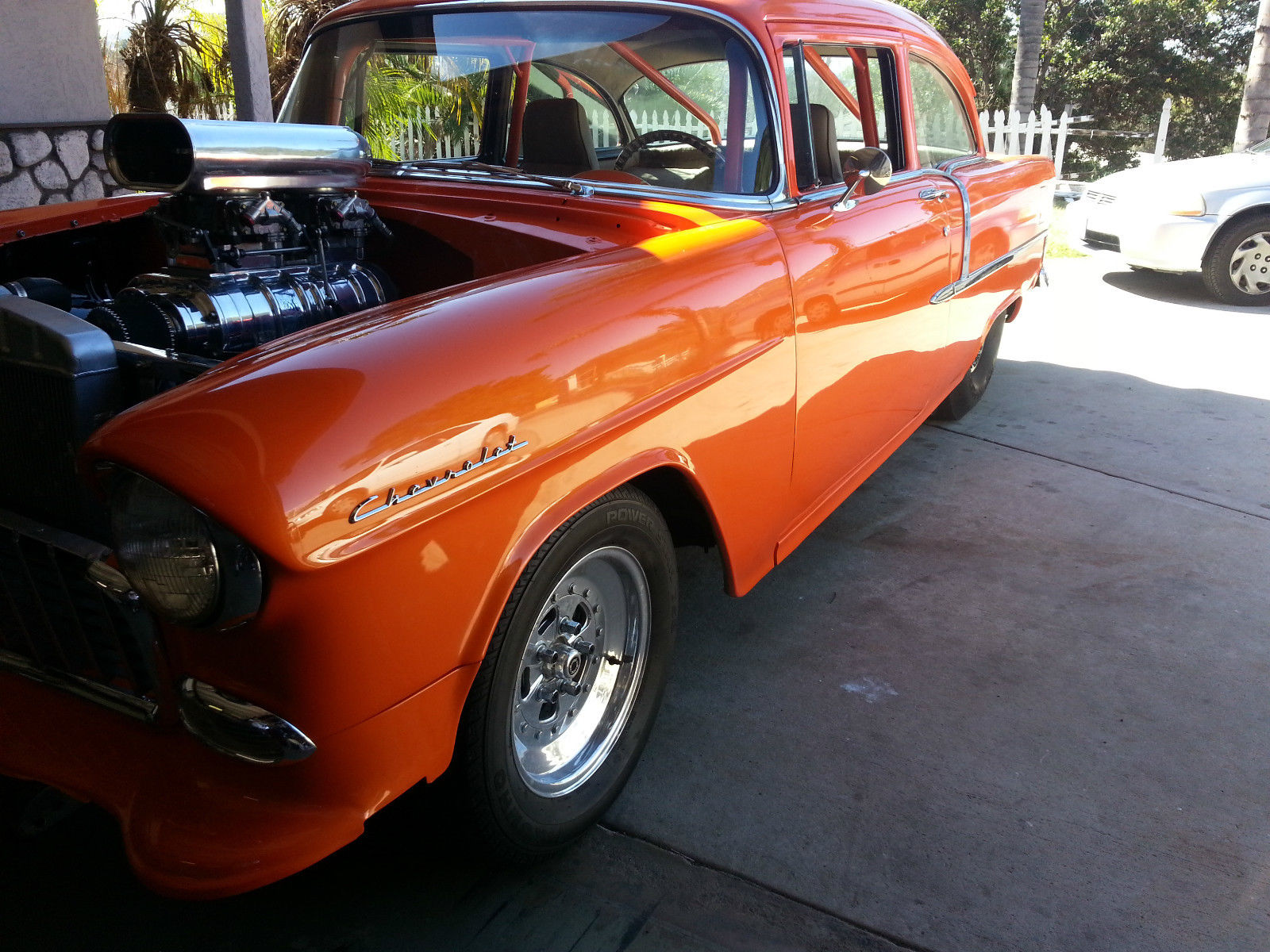 1955 chevy pro street muscle car classic tri five fast