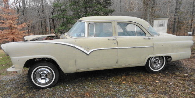 1955 ford 4 door fairlane town sedan project car clear title for 1955 ford fairlane 4 door