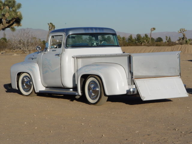 1955 ford f100 truck with 1956 ford big window cab chopped for 1956 ford big window