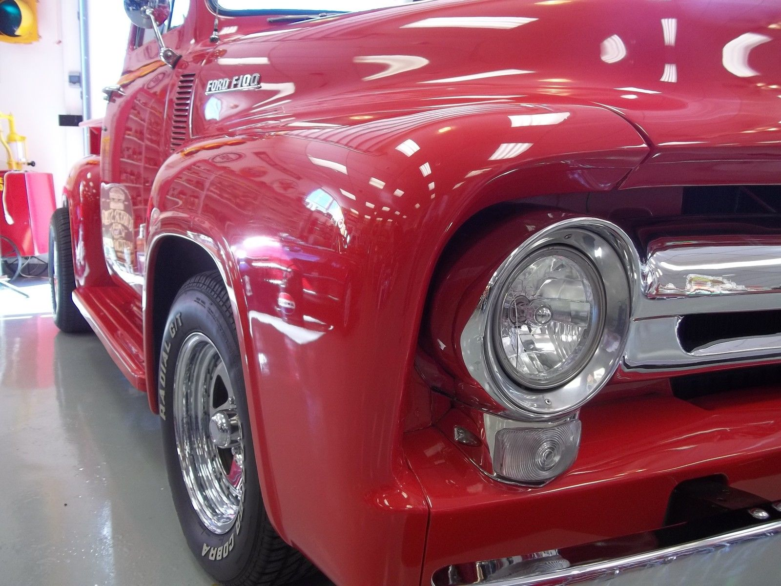 1955 Ford Pickup Beautiful F100 F 100 Custom Truck Restored 130 Red Pics 5 Videos