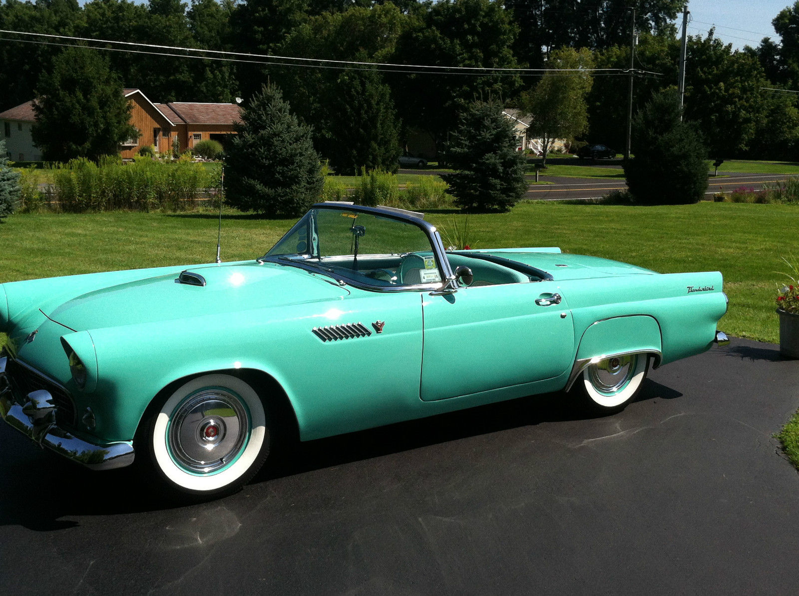 1955 ford thunderbird v8 numbers match hot rod cruiser tbird. Black Bedroom Furniture Sets. Home Design Ideas