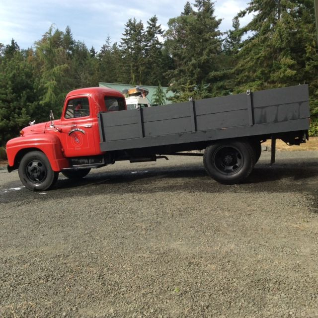 1955 international harvester 2 ton r 150 flatbed truck for sale. Black Bedroom Furniture Sets. Home Design Ideas
