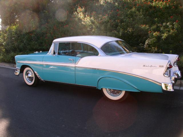 1956 chevrolet belair 2 door hardtop sport coupe v 8 stock for 1956 chevy 2 door hardtop for sale