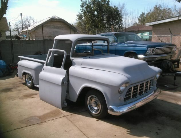1956 chevrolet chevy truck shortbed big rear window cab patina 1955 1957. Black Bedroom Furniture Sets. Home Design Ideas