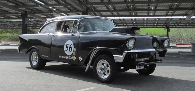 1956 Chevy Bel Air Hot Rod Streetstrip Gasser Vintage Drag Race
