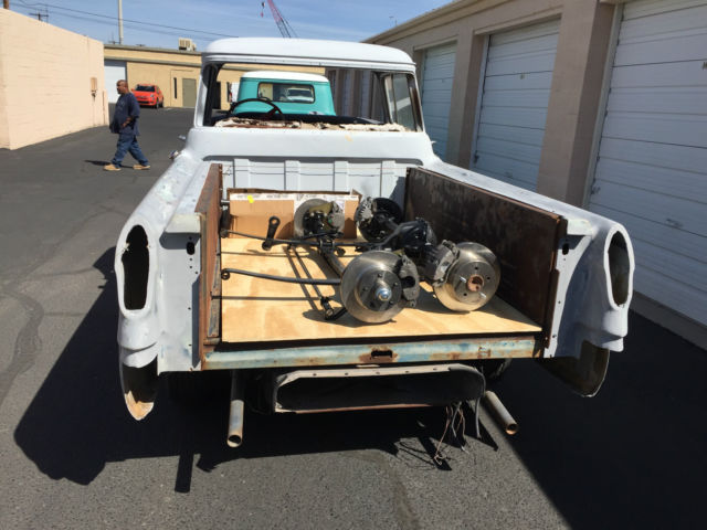 1956 chevy cameo 1 2 ton pickup very rare truck great project no reserve. Black Bedroom Furniture Sets. Home Design Ideas