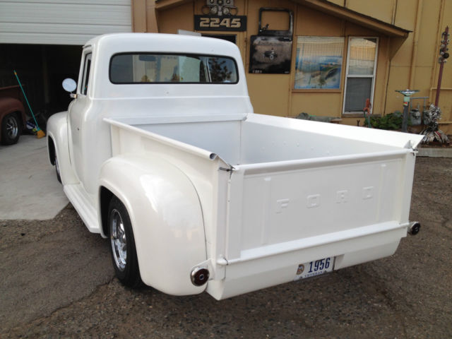 1956 Ford F-100 old school built, frame off resto, Pearl white ...