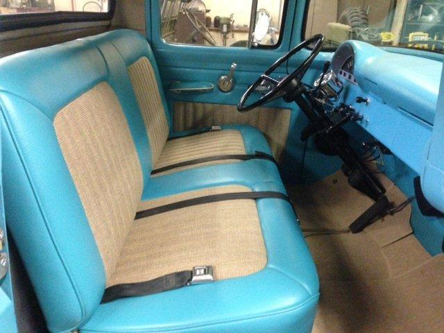 1956 Ford F100 Short Bed Pickup Fully Restored  292 V8 Engine  Turquoise Color