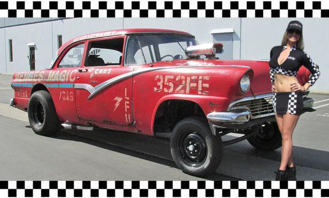 1956 ford straight axle gasser vintage drag car big for Woodland motors phone number